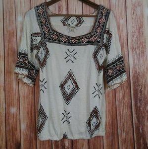 Lucky Brand peasant style shirt size Medium
